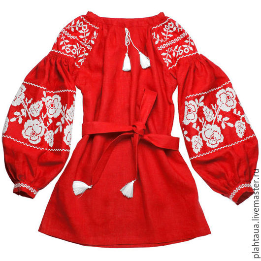 """Блузки ручной работы. Ярмарка Мастеров - ручная работа. Купить Женская вышиванка """"Искрящиеся Розы"""". Handmade. Ярко-красный, вышивка"""