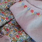 "Одежда ручной работы. Ярмарка Мастеров - ручная работа Юбочка льняная ""На лугу"". Handmade."