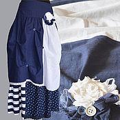 """Одежда ручной работы. Ярмарка Мастеров - ручная работа Юбка """"Морской бриз"""". Handmade."""