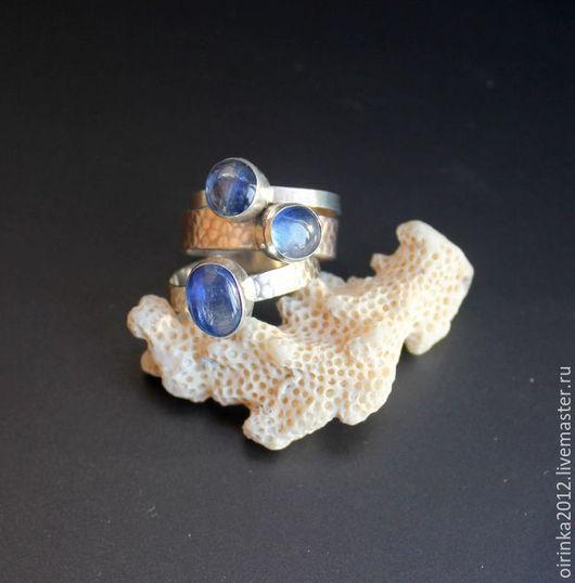 Кольца ручной работы. Ярмарка Мастеров - ручная работа. Купить Комплект из колец с кианитом. Handmade. Кольцо с камнем, кольцо с камнями