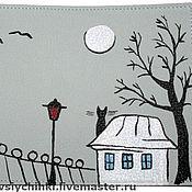 Канцелярские товары ручной работы. Ярмарка Мастеров - ручная работа Обложка Песни под луной. Handmade.