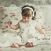 Работы для детей, ручной работы. Ярмарка Мастеров - ручная работа Кружевное крестильное платье. Handmade.