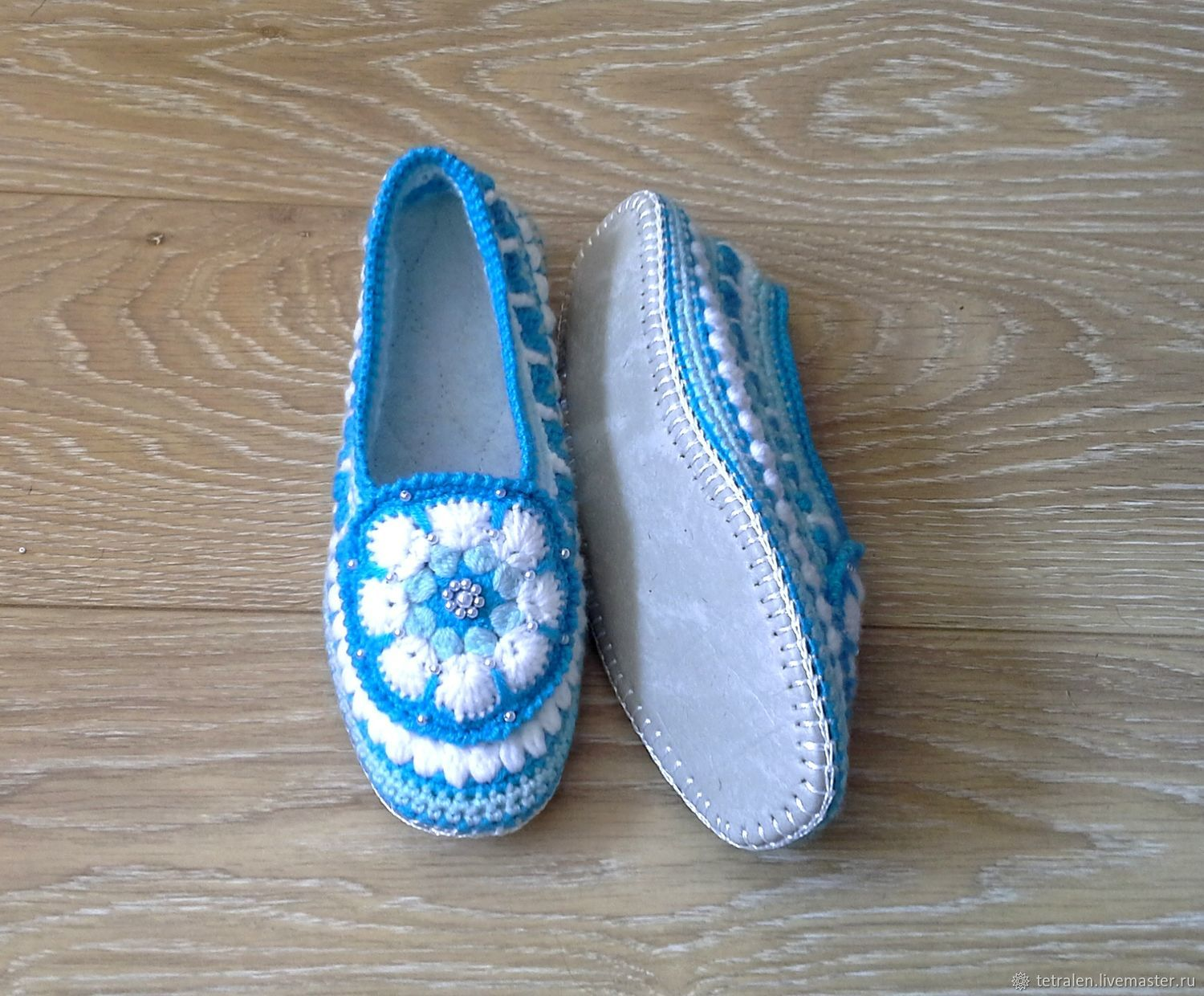 ade3e1db2ba8f2 Online shopping on Handmade Shoes handmade. Order Slippers crochet  Snezhana. Knitted stuff from Svetlana. Livemaster.