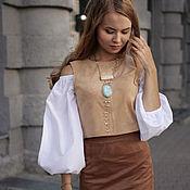 Одежда ручной работы. Ярмарка Мастеров - ручная работа Комплект юбка-топ-блуза. Handmade.