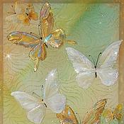 Картины и панно ручной работы. Ярмарка Мастеров - ручная работа Золотые бабочки жаркого лета. Handmade.