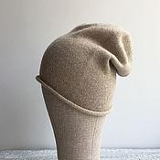 Шапки ручной работы. Ярмарка Мастеров - ручная работа Шапка-бини (100% кашемир, Италия). Handmade.
