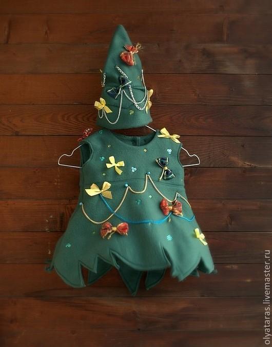 """Карнавальные костюмы ручной работы. Ярмарка Мастеров - ручная работа. Купить Новогодний костюм """"Елка"""".. Handmade. Тёмно-зелёный"""