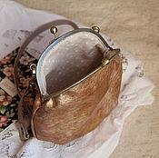 """Классическая сумка ручной работы. Ярмарка Мастеров - ручная работа Сумочка кожаная """"Металлик"""". Handmade."""