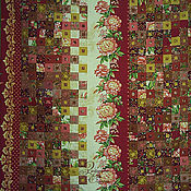 Для дома и интерьера ручной работы. Ярмарка Мастеров - ручная работа лоскутное покрывало  Цветочная кантата (ария пиона). Handmade.