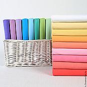 Материалы для творчества ручной работы. Ярмарка Мастеров - ручная работа Хлопковая ткань, 17 цветов.. Handmade.
