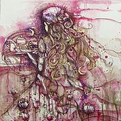 Картины и панно ручной работы. Ярмарка Мастеров - ручная работа Ягодный крамбл. Handmade.