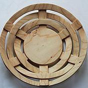 Посуда ручной работы. Ярмарка Мастеров - ручная работа Тарелка декоративная из дерева. Handmade.