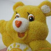 Brooches handmade. Livemaster - original item Felted brooch Sunny bear. Handmade.
