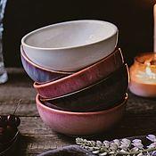 Посуда handmade. Livemaster - original item Set of Deep plates 500 ml 5 pcs. Handmade.