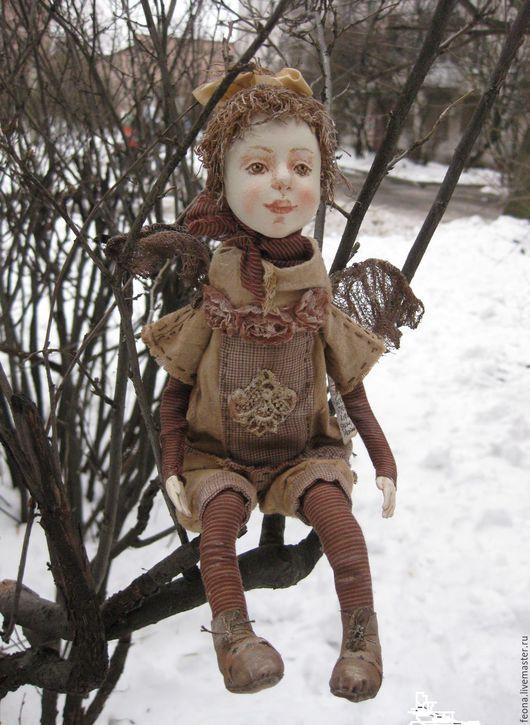 Коллекционные куклы ручной работы. Ярмарка Мастеров - ручная работа. Купить Ангел. Handmade. Бежевый, коллекция, текстиль
