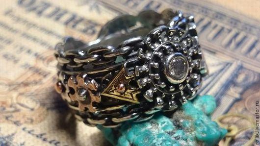 Кольца ручной работы. Ярмарка Мастеров - ручная работа. Купить Кольцо с бриллиантом в стиле стимпанк. Handmade. Steampunk, новинка, Бриллиант