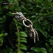 Украшения handmade. Livemaster - original item Silver Capricorn bracelet, leather. Handmade.
