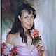 Персональные подарки ручной работы. Ярмарка Мастеров - ручная работа. Купить портрет по фотографии живопись. Handmade. Розовый, портрет по фото