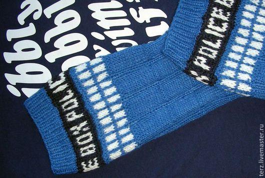 """Носки, Чулки ручной работы. Ярмарка Мастеров - ручная работа. Купить Носки """"Тардис"""" / Socks """"TARDIS"""". Handmade. тардис"""