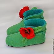 Обувь ручной работы. Ярмарка Мастеров - ручная работа валеночки для дома. Handmade.