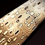 Аксессуары handmade. Livemaster - original item Tie Klimt achromatic, original painting.. Handmade.