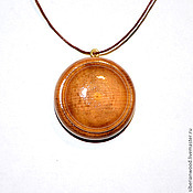 Украшения handmade. Livemaster - original item Wooden pendant Opening pendant in natural wood (Cedar). Handmade.