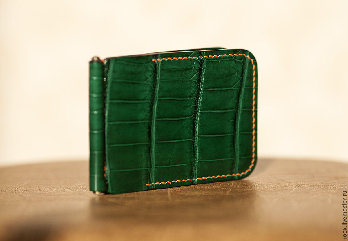 Wallet Money Clip Crocodile Leather Money Clip Wallet Shop Online On Livemaster With Shipping