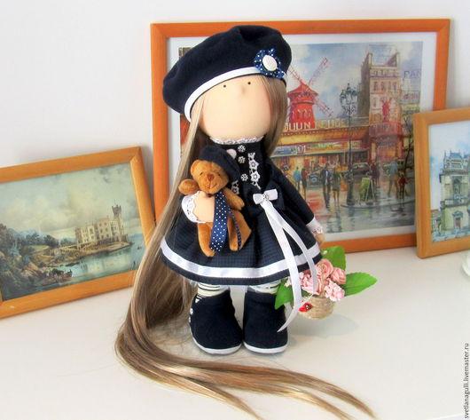 Человечки ручной работы. Ярмарка Мастеров - ручная работа. Купить Кукла интерьерная. Интерьерная кукла. Девочка с цветочной корзинкой. Handmade.
