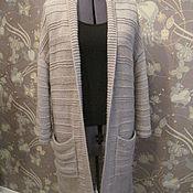 """Одежда ручной работы. Ярмарка Мастеров - ручная работа Кардиган вязаный  """"Бежевый песок"""". Handmade."""