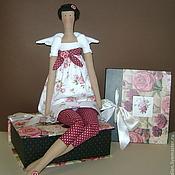 Куклы и игрушки ручной работы. Ярмарка Мастеров - ручная работа Кукла тильда для интерьера - цветочный ангел. Handmade.