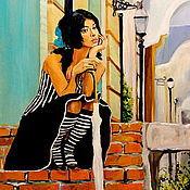 Картины и панно ручной работы. Ярмарка Мастеров - ручная работа картина маслом Марго. Handmade.
