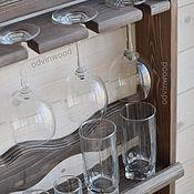 """Для дома и интерьера ручной работы. Ярмарка Мастеров - ручная работа """"Элегант"""", Настенная открытая деревянная полка на кухню для посуды. Handmade."""