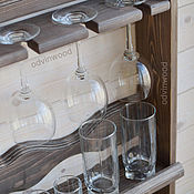"""Для дома и интерьера ручной работы. Ярмарка Мастеров - ручная работа Полка """"Элегант"""", деревянная полка, полка для посуды кухни из дерева. Handmade."""