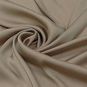 Ткани ручной работы. Ярмарка Мастеров - ручная работа ткань шелк иск. т.беж  со стрейчем. Handmade.