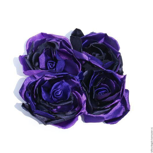 """Броши ручной работы. Ярмарка Мастеров - ручная работа. Купить Чайная роза «Аметистос» тёмная («Tea Rose «Amethystos"""" dark). Handmade."""