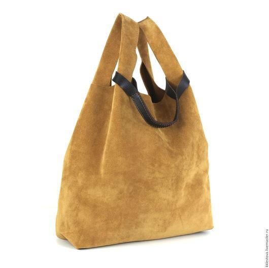 Женские сумки ручной работы. Ярмарка Мастеров - ручная работа. Купить Сумка - Мешок - Пакет - среднего размера с карманом с лямкой. Handmade.