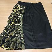 Одежда handmade. Livemaster - original item Bodycon skirt with ruffle. Handmade.