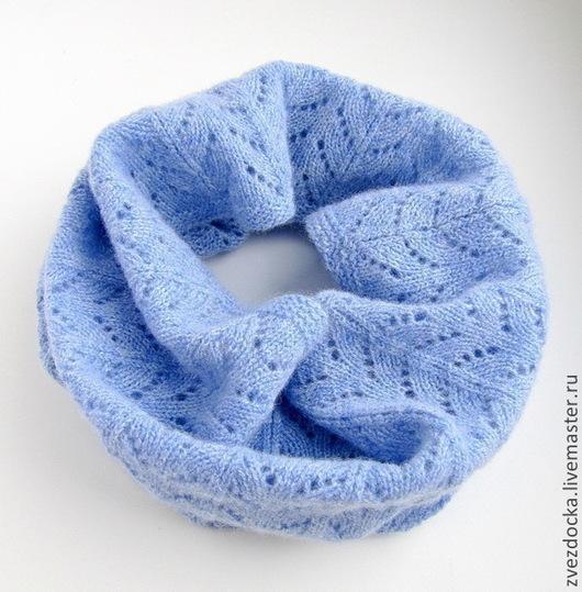 """Шали, палантины ручной работы. Ярмарка Мастеров - ручная работа. Купить шарф - снуд """"Glacier"""". Handmade. Шарф, шарф на голову"""