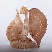 Для дома и интерьера ручной работы. Ярмарка Мастеров - ручная работа Щепная Птица счастья с хохолком. Handmade.