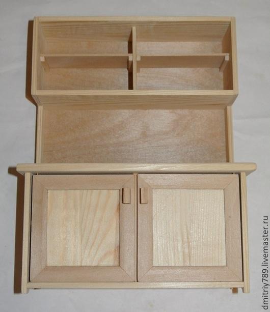 Кукольный дом ручной работы. Ярмарка Мастеров - ручная работа. Купить Кукольный кухонный шкаф. Handmade. Оранжевый, кухонный шкаф