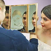 Подарки к праздникам ручной работы. Ярмарка Мастеров - ручная работа Зеркало с концептом от Alexander Awe. Handmade.