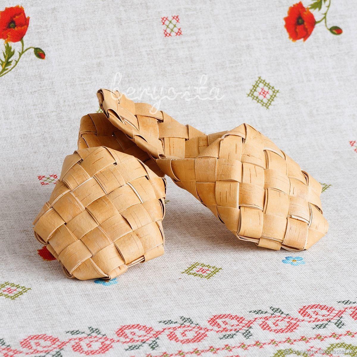 Ступни (тапки, шлёпки) из бересты, р-р 34-45. Обувь для бани, Тапочки, Новосибирск,  Фото №1