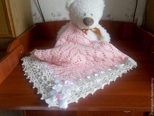 """Пледы и одеяла ручной работы. Ярмарка Мастеров - ручная работа. Купить Детский плед """"Нежность"""". Handmade. Розовый, плед вязаный"""