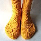 Аксессуары ручной работы. Ярмарка Мастеров - ручная работа Вязаные носки ручной работы, подарок девушке. Handmade.