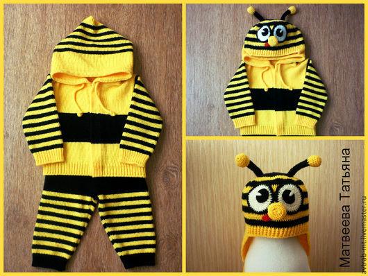 """Одежда для мальчиков, ручной работы. Ярмарка Мастеров - ручная работа. Купить Детский костюм """"Пчеленок"""". Handmade. Детский комплект"""