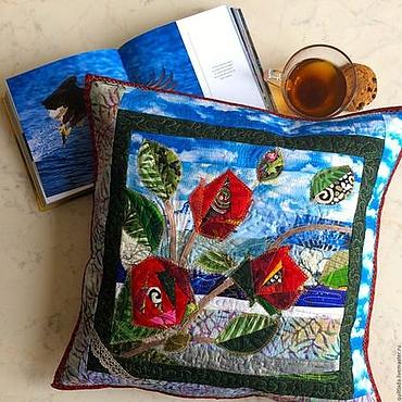 Для дома и интерьера handmade. Livemaster - original item Copy of Cushion   Liflit. Handmade.