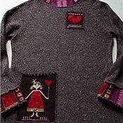Одежда handmade. Livemaster - original item Sweater with pryntsessa. Handmade.