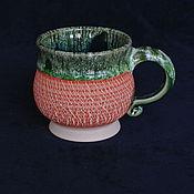 Посуда ручной работы. Ярмарка Мастеров - ручная работа Кружка керамика Зимняя мандаринка. Handmade.