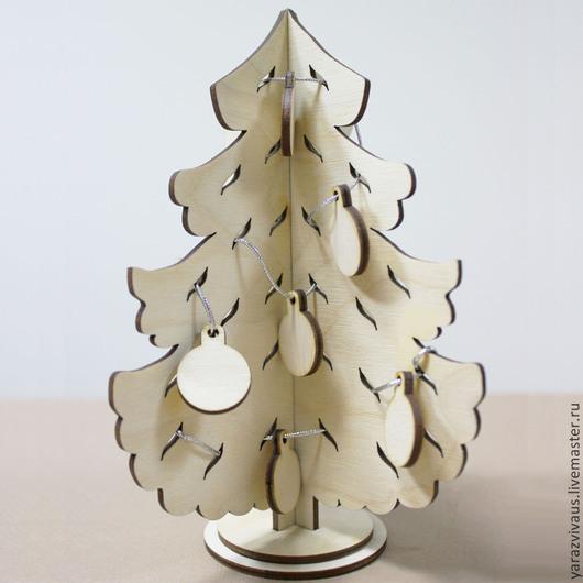 """Развивающие игрушки ручной работы. Ярмарка Мастеров - ручная работа. Купить """"Ёлка новогодняя"""". Handmade. Бежевый, елка деревянная, дерево"""