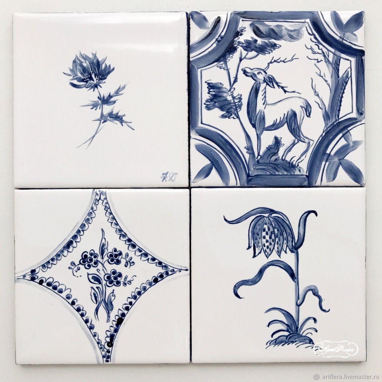 Роспись керамической плитки своими руками фото 371